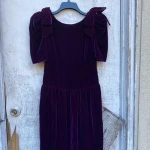Vintage Velvety Purple Dress 🖤